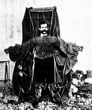 coat parachute, dead inventors, killed by their inventions